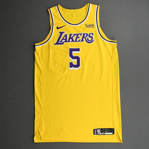 Image of Talen Horton-Tucker - Los Angeles Lakers - Kia NBA Tip-Off 2020 - Game-Worn Icon Edition Jersey