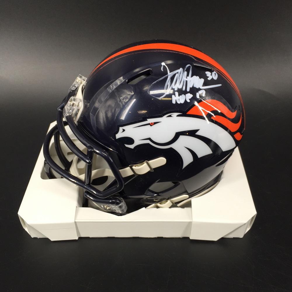 NFL - Broncos Terrell Davis Signed Mini Helmet