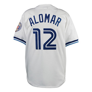 Cool Base 2011 Roberto Alomar Cooperstown Premier Replica Jersey with Hall of Fame Patch by Majestic