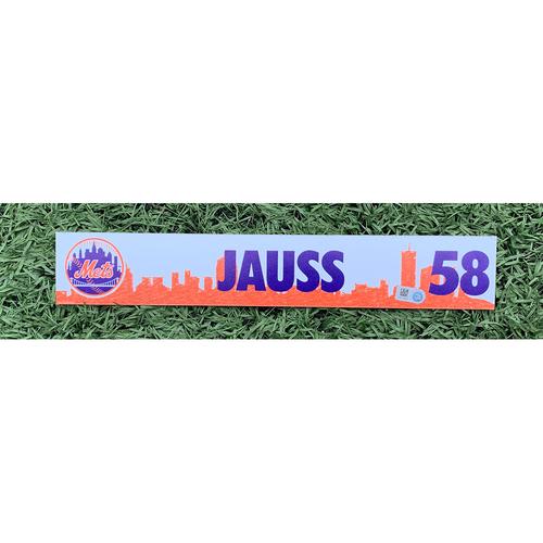 Photo of Dave Jauss #58 - Team Issued Locker Nameplate - 2021 Spring Training