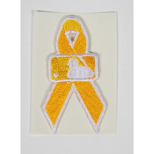 Photo of Shohei Ohtani Game Used Jersey Patch - 2021 Pediatric Cancer Awareness Day
