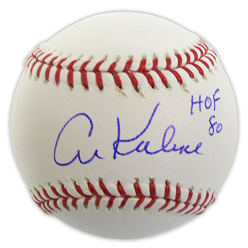 Photo of Detroit Tigers Al Kaline Autographed Baseball with HOF 80 Ins