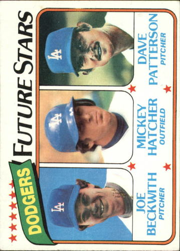 Photo of 1980 Topps #679 Joe Beckwith RC/Mickey Hatcher RC/Dave Patterson RC