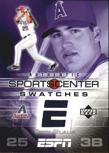 Photo of 2005 Upper Deck ESPN Sports Center Swatches #TG Troy Glaus