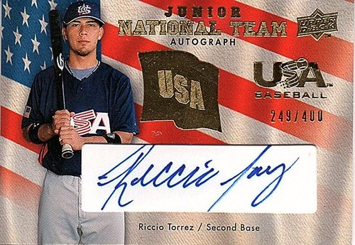 Photo of 2008 Upper Deck USA Junior National Team Autograph #RT Riccio Torrez AUTO /400