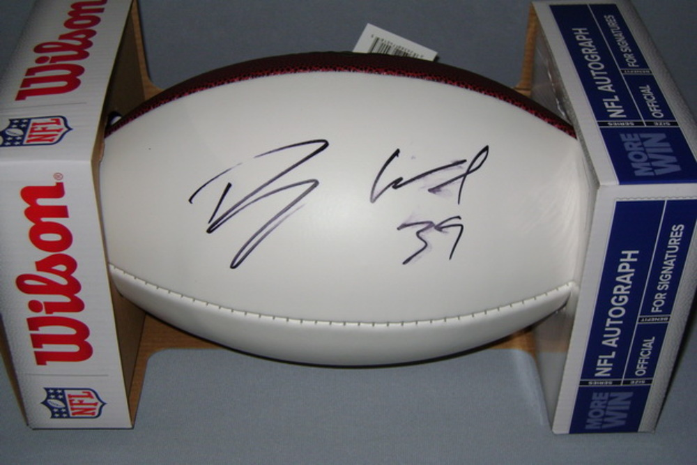 CHARGERS - DANNY WOODHEAD SIGNED PANEL BALL (SMUDGED SIGNATURE)