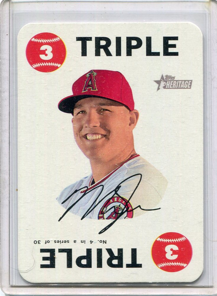 2017 Topps Heritage Topps Game #4 Mike Trout