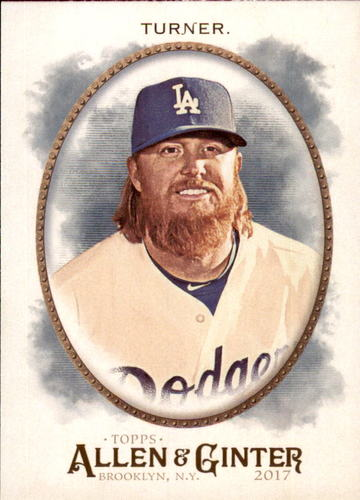 Photo of 2017 Topps Allen and Ginter #322 Justin Turner Rookie Card