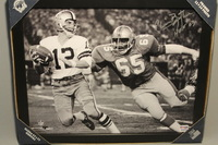 HOF - OILERS ELVIN BETHEA SIGNED 11X14 FRAMED PICTURE