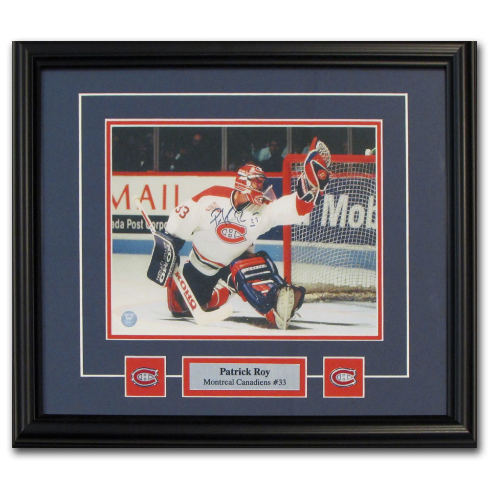 Patrick Roy Autographed Montreal Canadiens Framed 8X10 Photo