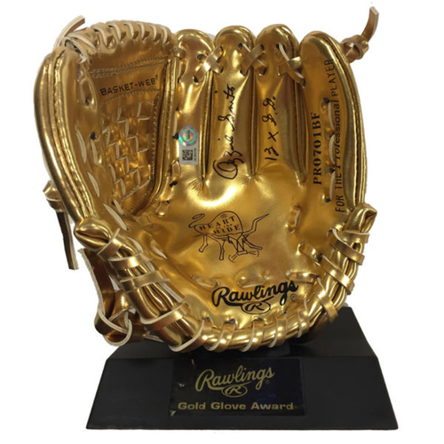 Photo of Cardinals Authentics: Ozzie Smith Autographed & Inscribed Mini Gold Glove