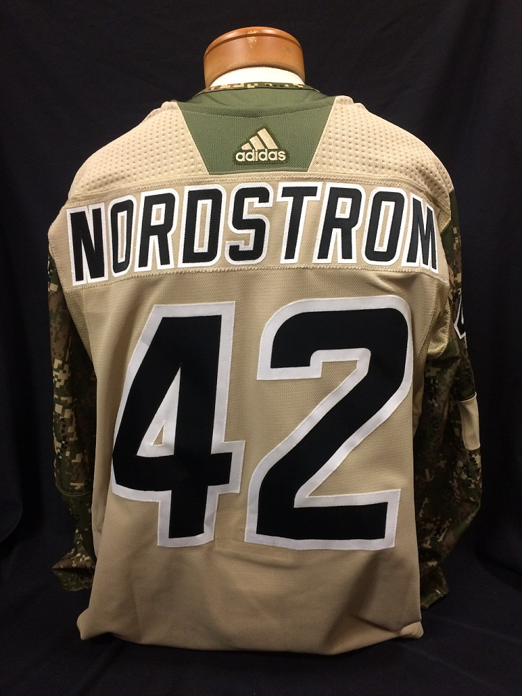 Joakim Nordstrom #42 Autographed Military Appreciation Jersey