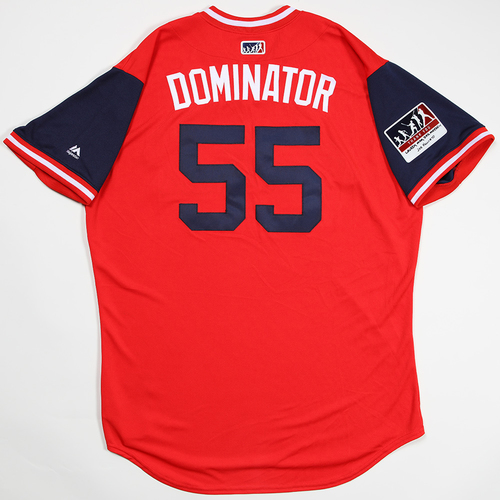 "Photo of Dominic ""Dominator"" Leone St. Louis Cardinals Game-Used 2018 Players' Weekend Jersey"