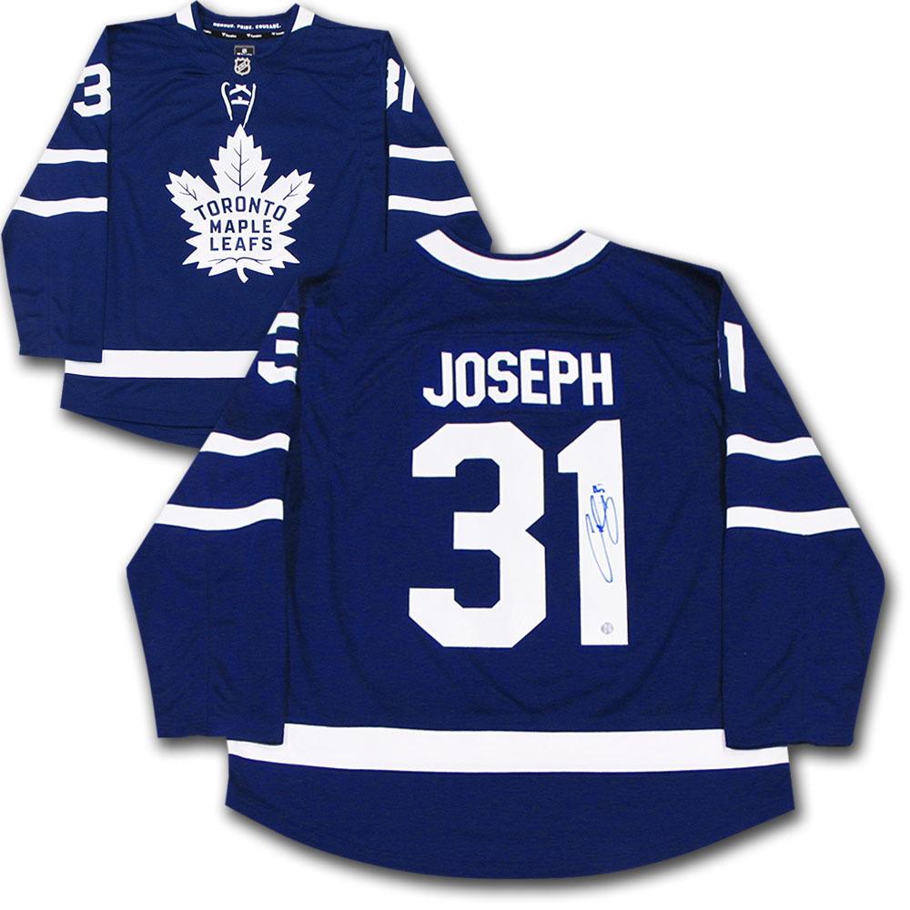 Curtis Joseph Autographed Toronto Maple Leafs Fanatics Jersey