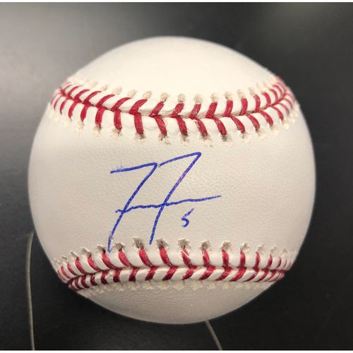 Photo of Freddie Freeman Autographed Baseball