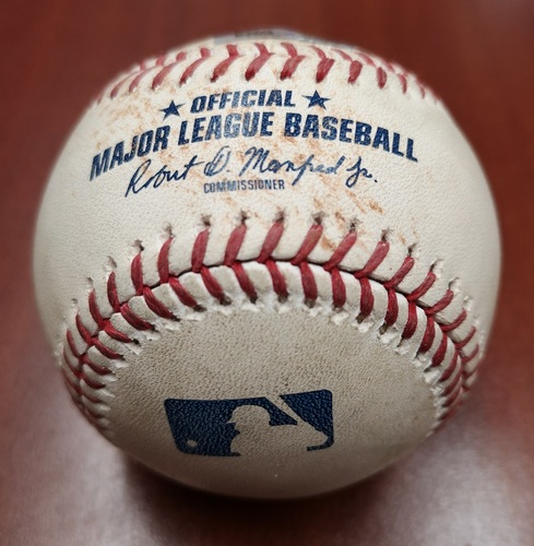 Photo of Authenticated Game Used Baseball: Marcus Stroman Strikes Out Daniel Robertson and Kevin Kiermaier (Apr 14, 19 vs TB). Top 2
