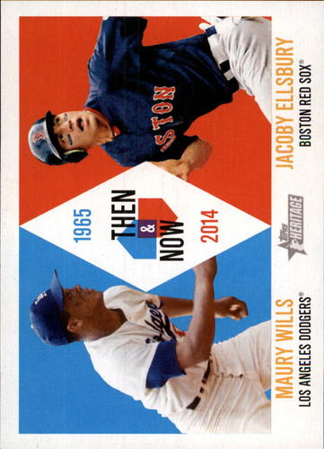 Photo of 2014 Topps Heritage Then and Now #TANWE Maury Wills/Jacoby Ellsbury