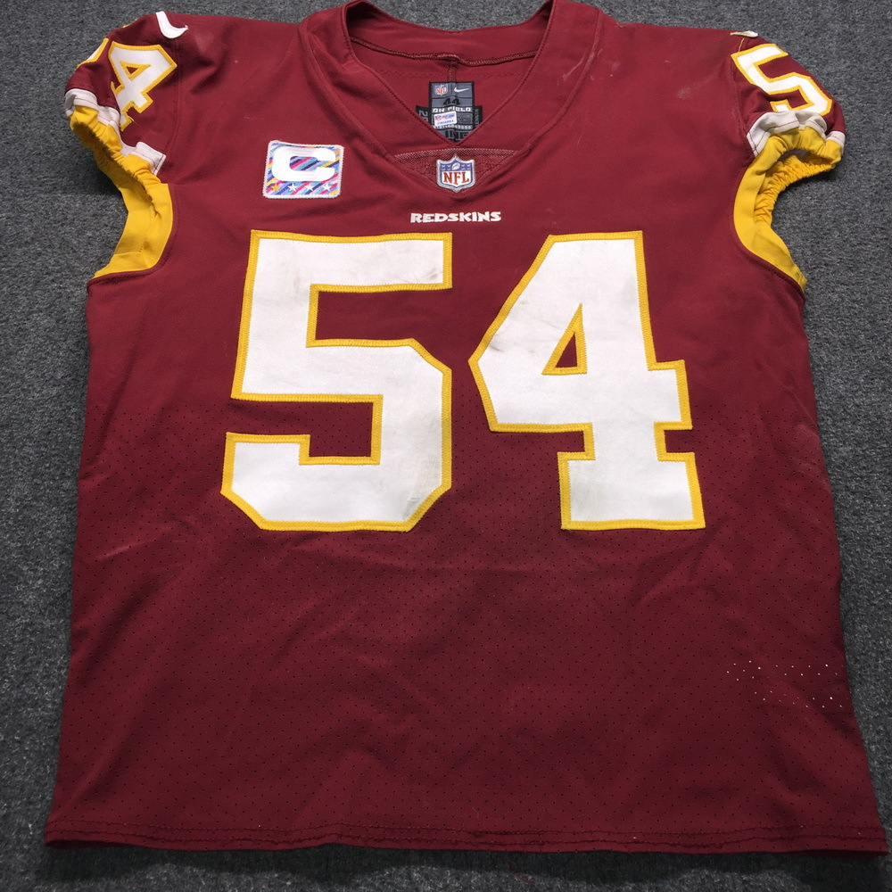 NFL Auction | Crucial Catch - Redskins Mason Foster Game Used ...