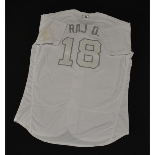 "Photo of Rajai ""RAJ D."" Davis New York Mets Game-Used 2019 Players' Weekend Jersey"