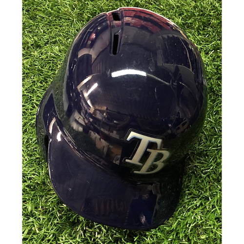 Photo of 2018 Game Used Helmet (size 7 1/4): Nick Ciuffo FIRST CAREER HOME RUN (3-R) - September 7, 2018 v BAL