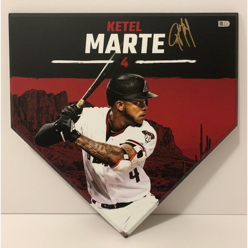 Photo of Ketel Marte Autographed Homeplate