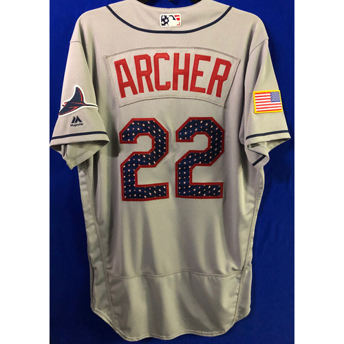 Photo of Stars and Stripes Team Issued Jersey: Chris Archer