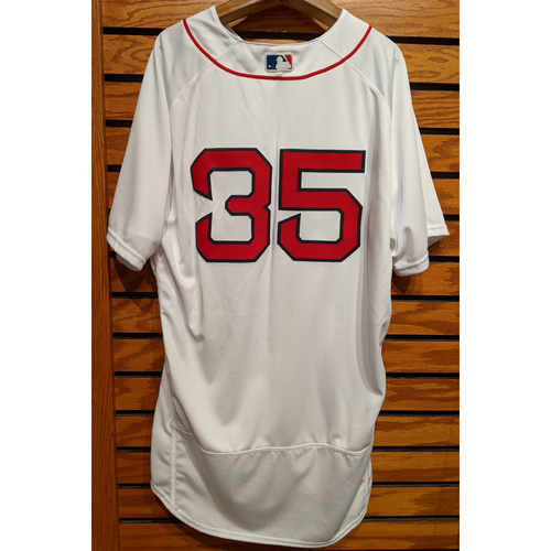Photo of Steven Wright #35 Team Issued Home White Jersey