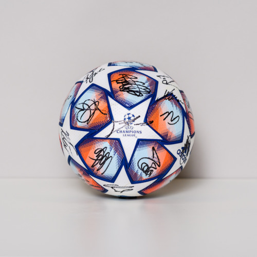 Photo of 20/21 Champions League Ball signed by the B. Monchengladbach Team