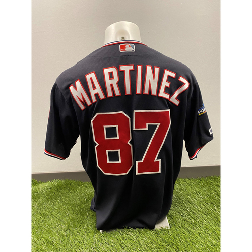 Photo of Team-Issued Octavio Martinez 2019 Navy Script Jersey with Postseason Patch