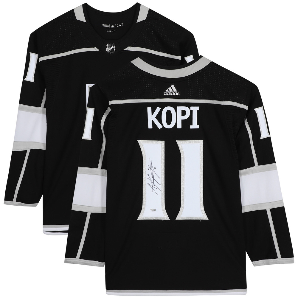 Anze Kopitar Los Angeles Kings Autographed Black Adidas Authentic