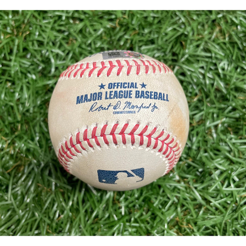 Photo of Spring Training Game Used Baseball: Willy Adames RBI single off Matt Hall - Bottom 4 - March 9, 2021 v BOS