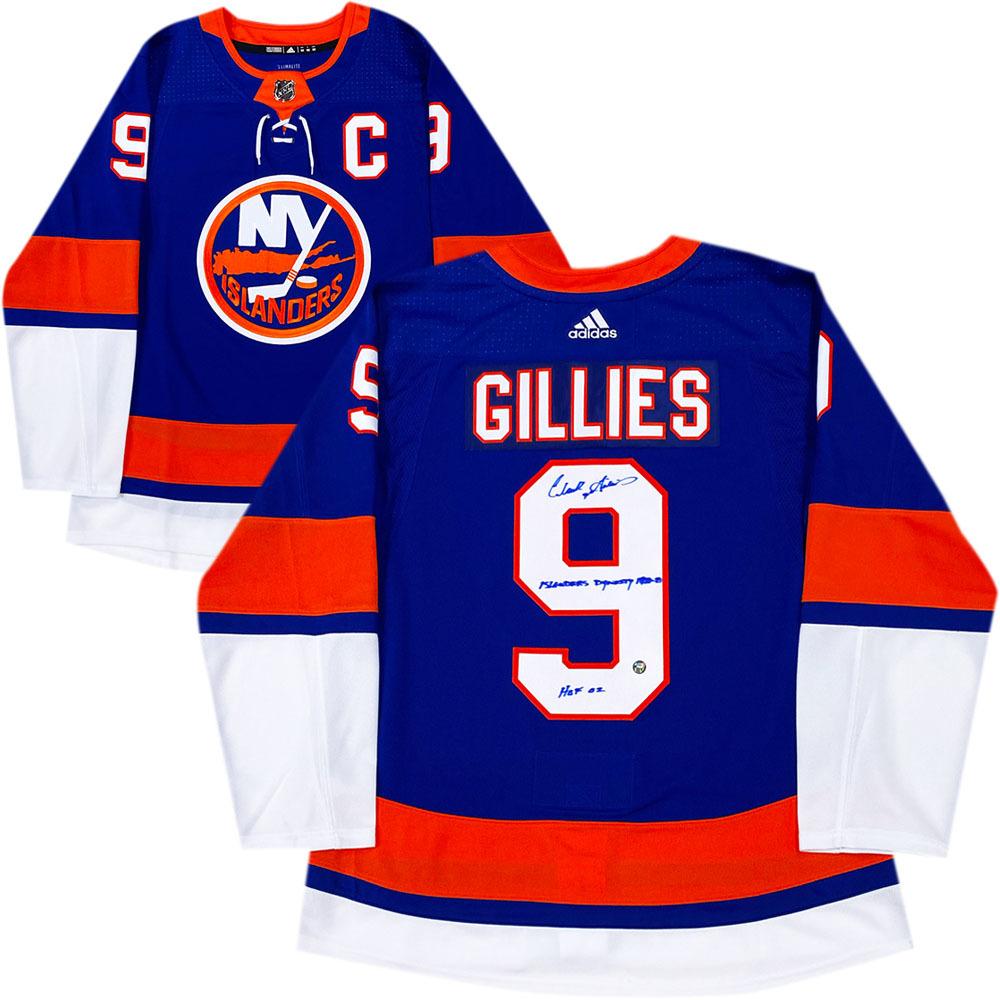Clark Gillies Autographed New York Islanders adidas Pro Jersey w/Inscriptions