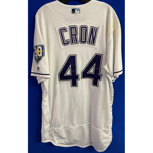 Photo of Game Used (4 Games) Devil Rays Jersey: C.J. Cron - 2018 Season (See Description for Details)
