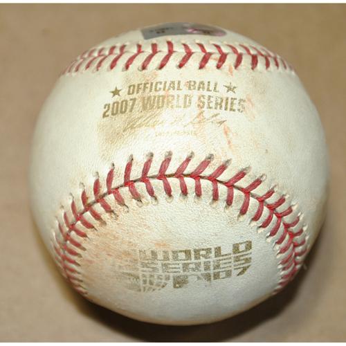 Photo of Game-Used Baseball - 2007 World Series Game 3 - Boston Red Sox vs. Colorado Rockies