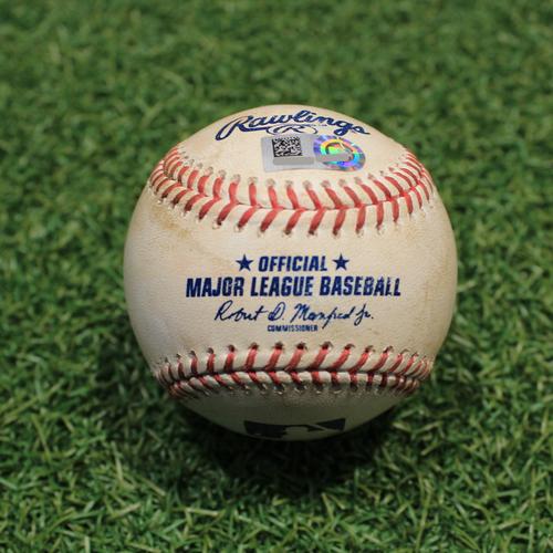 Photo of Game-Used Baseball: Adam Eaton 920th Career Hit & 308th Career RBI (CWS@KC 5/7/21)