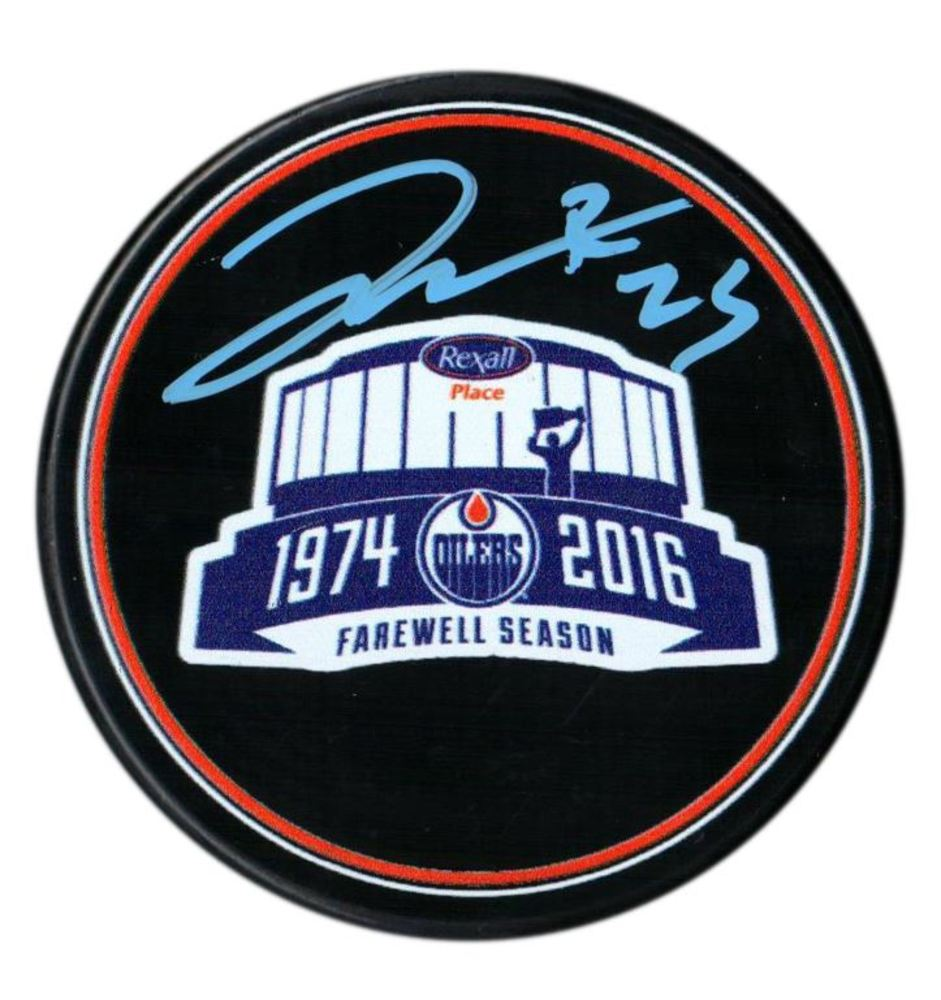 Darnell Nurse - Signed Rexall Place Farewell Season Puck
