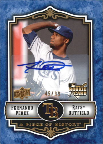 Photo of 2009 UD A Piece of History Rookie Autographs Blue #143 Fernando Perez