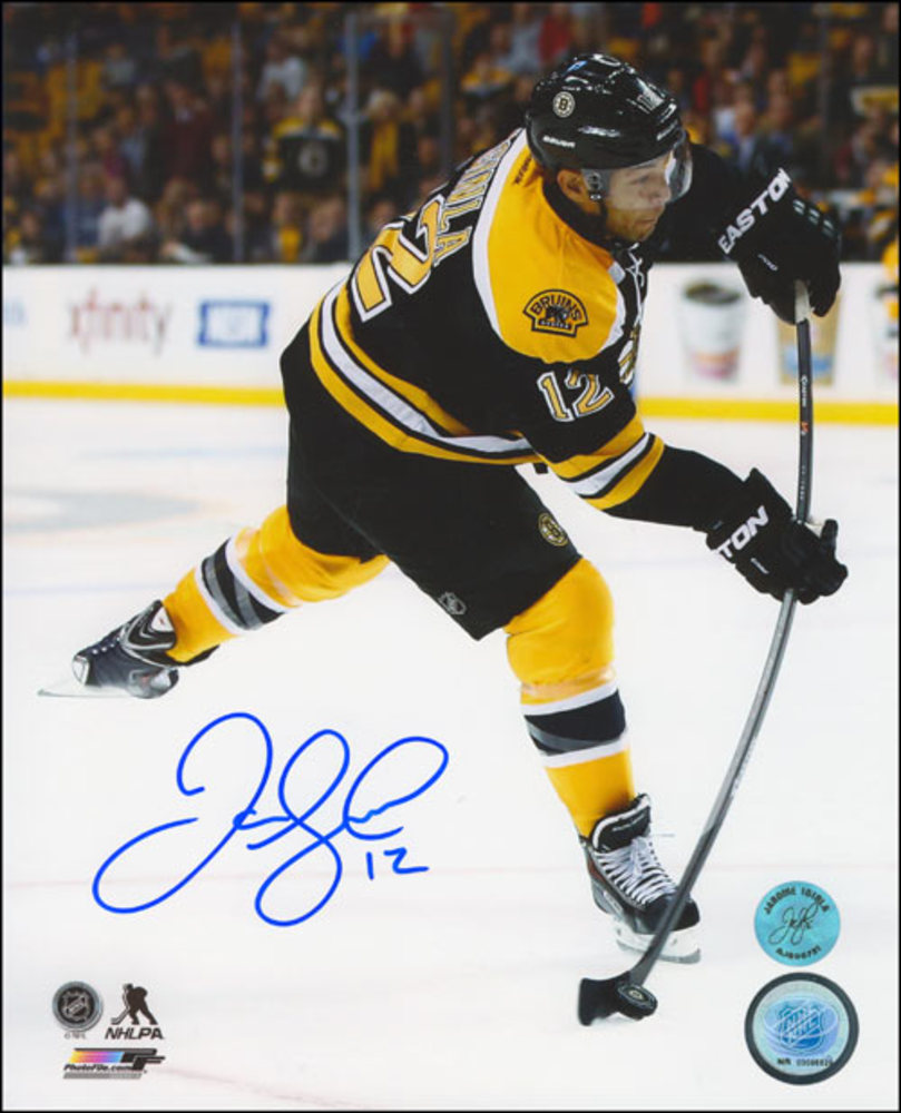 JAROME IGINLA Autographed Boston Bruins 8x10 Photo