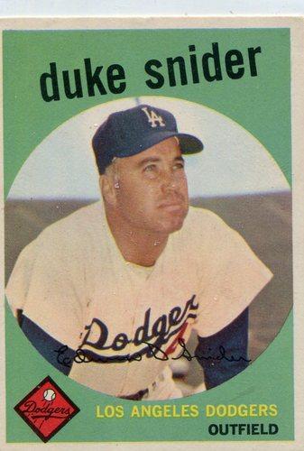 Photo of 1959 Topps #20 Duke Snider -- Hall of Famer