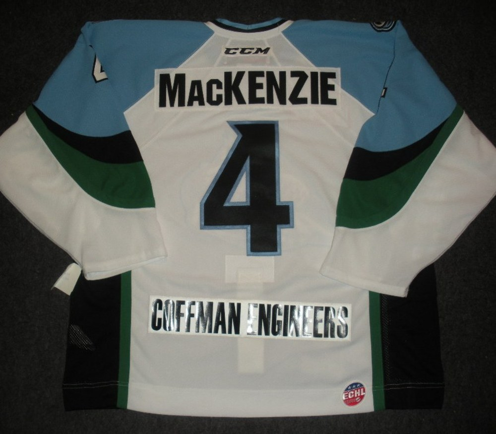 Drew MacKenzie - 2014 Kelly Cup Finals - Alaska Aces - White Game-Issued Jersey - Games 1 & 2