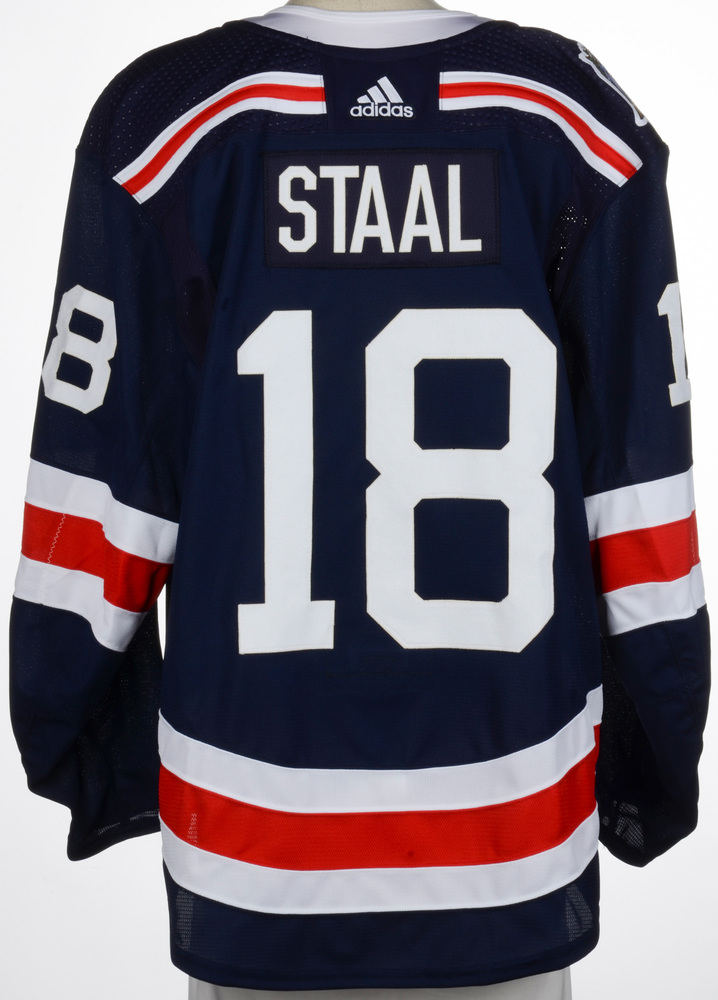 low priced 021cb 5d7db Marc Staal New York Rangers Game-Worn 2018 NHL Winter ...