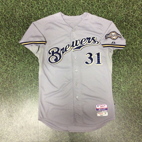 Photo of John Shelby 2015 Game-Used Road Grey Jersey