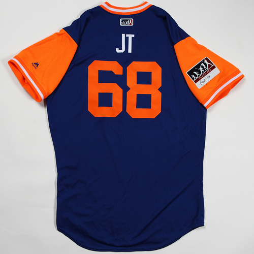 """Photo of Jeff """"JT"""" McNeil New York Mets Game-Used Jersey 2018 Players' Weekend Jersey"""