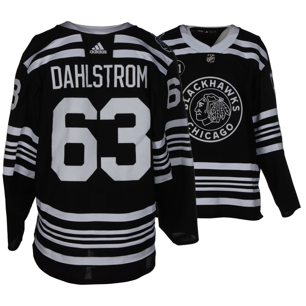 Carl Dahlstrom Chicago Blackhawks Game-Worn 2019 NHL Winter Classic Jersey
