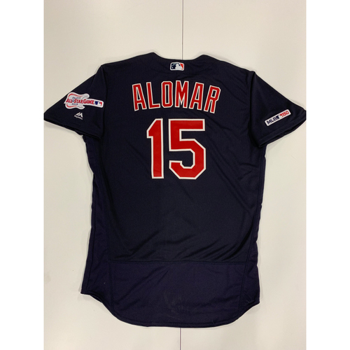Photo of Sandy Alomar 2019 Team Issued Alternate Road Jersey