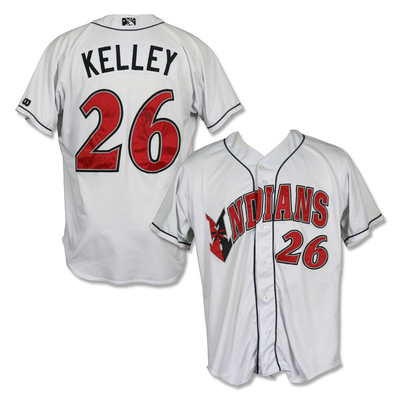 #26 Christian Kelley Autographed Game Worn Home White Jersey