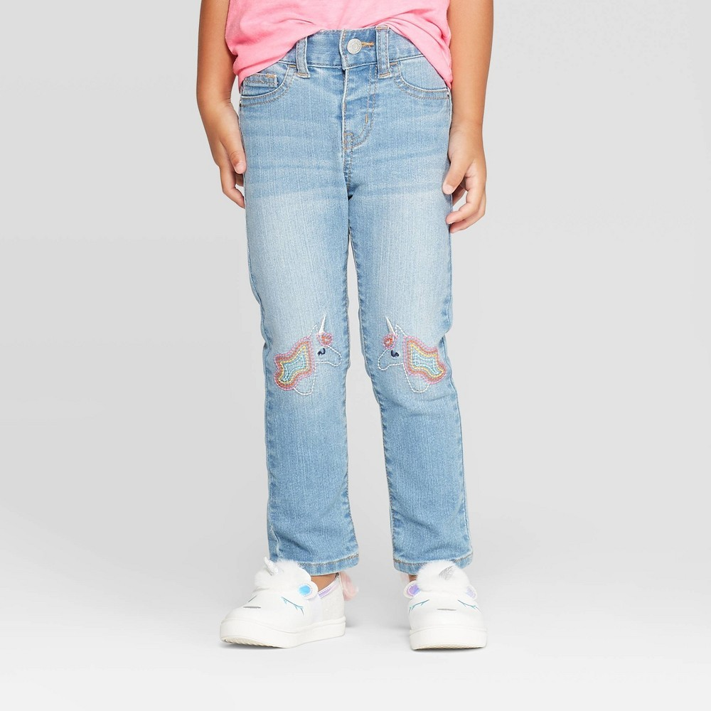 Photo of Cat & Jack Toddler Girls Unicorn Skinny Jeans