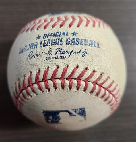 Photo of Authenticated Game Used Baseball: Aug 11, 2020 vs MIA. 1st Blue Jays Game in Buffalo