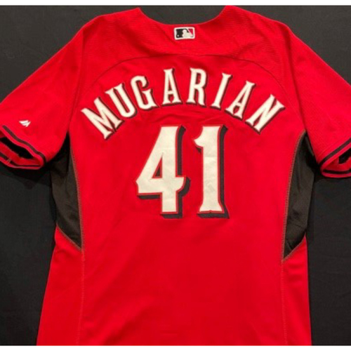 Photo of MUGARIAN -- Authentic Reds Jersey -- $1 Jersey Auction -- $5 Shipping -- Size 46 (Not MLB Authenticated)