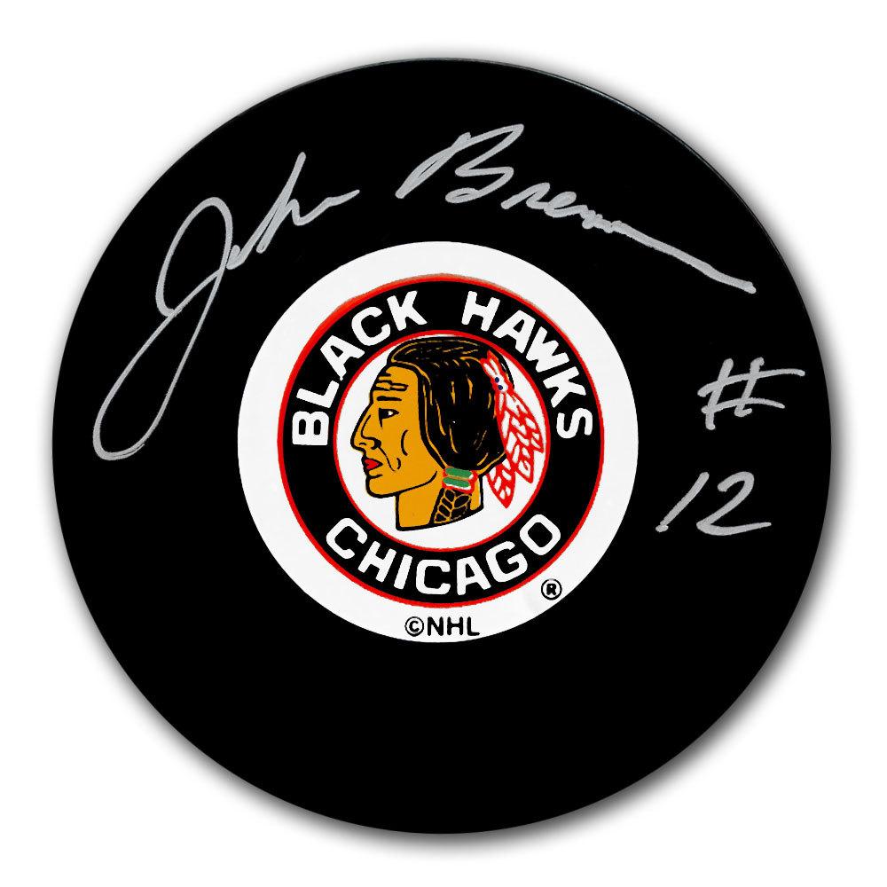 John Brenneman Chicago Blackhawks Autographed Puck